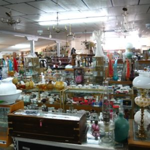 Lots of antiques in the showroom